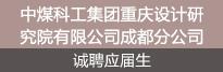 中煤科工集团重庆设计研究院有限公司名仕官网登录:分公司